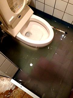 トイレ詰まり画像